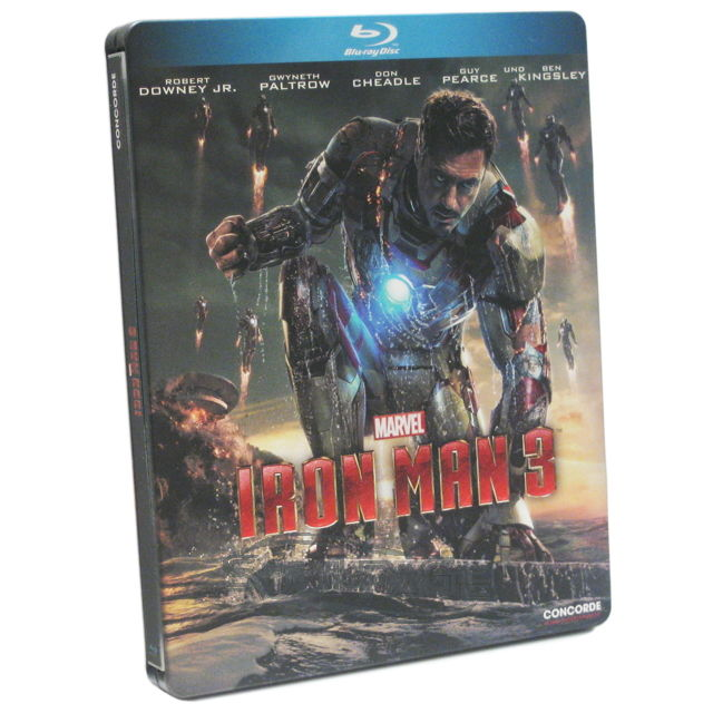 iron man 3 steelbook bluray neu sealed micro spot